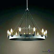 wrought iron candle chandeliers non electric non candle chandelier