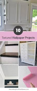 how to wallpaper furniture. 10 textured wallpaper projects how to furniture