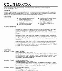Sample Zoning Supervisor Resume Quarry Manager Resume Example Galasso Materials Wake