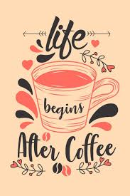 Life Begins After Coffee Journal To Write In With Funny