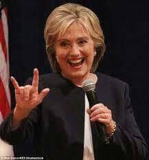 Image result for Satan horns politicians