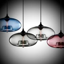 simple round glass pendant lights art meal hanging light creative modern single head bar nordic personalized