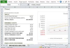 How To Do A Breakeven Chart In Excel How To Easily Create Breakeven Analysis In Excel