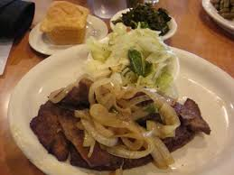 Liver, onions and cabbage - Picture of Luby's, Dallas - Tripadvisor