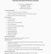 Sample Medical Receptionist Resume Examples For Cover Letter Example