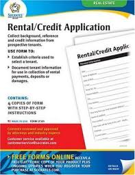 Rental Credit Application Rental Credit Application Forms Socrates Media 9781595460561