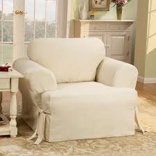 Magnificent Armchair Slipcovers with Sure Fit Cotton Duck Armchair T
