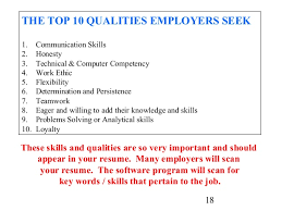 Top Skills In Resume Cover Letter And Resume Writing For High