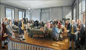 signing declaration of independence painting mafiaa