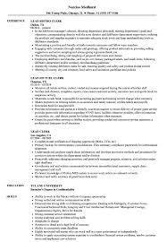 Lead Clerk Resume Samples Velvet Jobs