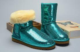 UGG 3161 Women Classic Short Sparkles Boots Green ...