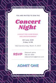 Concert Ticket Invitation Template Free Concert Ticket Invitation Template In Adobe Photoshop 15