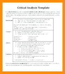 Book Analysis Template Critical Analysis Essay Example Pdf Book Sample Of Appraisal Nursing