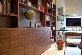 bespoke home office in walnut veneer 2 bespoke home office