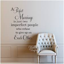 perfect marriage e vinyl wall decals family wall sticker love es lettering home decors diy easy