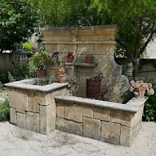 large natural stone garden wall fountain stone cutting crafted according to a traditional processes