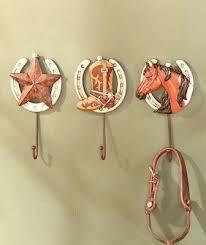 3pc western cowboy horseshoe wall hooks