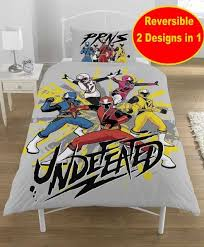 power rangers ninja steel single duvet quilt cover set new boys kids bedroom