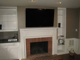 woodbridge ct tv mounted over fireplace all wires home