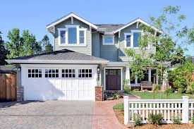 garage door with entry doorWhite doors with wood trim exterior craftsman with front door