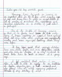 local boy wins campaign for cursive international contest monroe duvy burston s essay