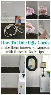 how to hide unsightly lamp cords simple diy fix foxhollowcottage com damagefreediy sp organize