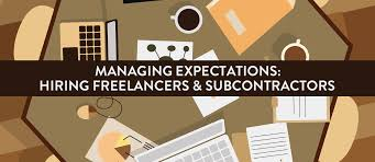 design freelancer managing expectations hiring freelancers and subcontractors