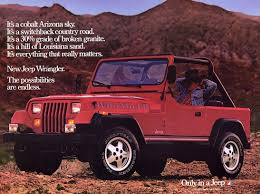 Jeep Wrangler ad from 1987 | Jeep Ads - 1980s | Pinterest | Jeeps ...