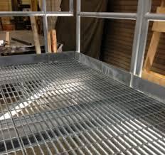 galvanized serrated 19w4 open bar grating on a mezzanine deck bar grate mezzanine floor