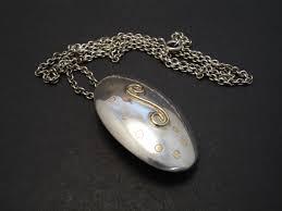 handmade silver gold pendant brooch necklace 08293 jpg