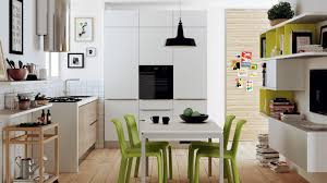 Small Kitchen With Dining Table Interesting Kitchen Layout Design With Gray Orange Cabinet And