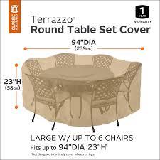 classic accessories 58222 terrazzo patio set cover sand 23 x 94 com