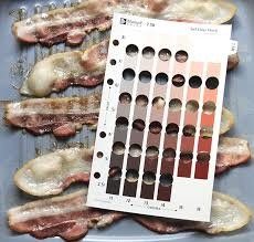 Bacon Cooking Chart Bacon Color From Chewy To Extra Crispy Munsell Color
