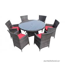round rattan table set patio dining table set outdoor wicker dining table and chairs red b071ckh1my