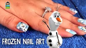 How to do Frozen nails | Frozen nail art | Disney's Frozen Olaf ...