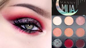 manny mua x makeup geek palette tutorial review swatches rawbeautykristi you