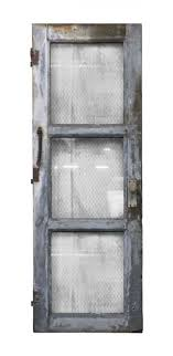 steel frame 3 panel en wire glass door