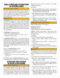 Resume Samples Mba Finance New Resume Templates Format For Mba