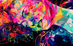 colorful abstract wallpapers. Simple Abstract Colorful Abstract Girl Wallpaper Intended Wallpapers H