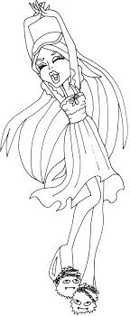 Small Picture Free Printable Monster High Coloring Pages Spectra Vondergeist