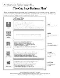 one page business plan template business template gallery of one page business plan template