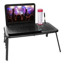 laptop desk bed cup holder computer table lap desk tray notebook portable stand