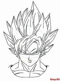 drawing goku super saiyan from dragonball z tutorial step 09 how to draw goku super goku and tutorials