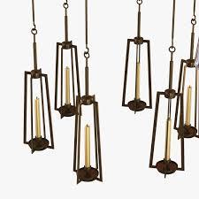 holly hunt clock chandelier 3d model max obj 3ds fbx mtl 7