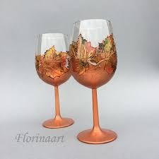 copper anniversary 22nd wedding anniversary 7th wedding anniversary wine glasses hand painted