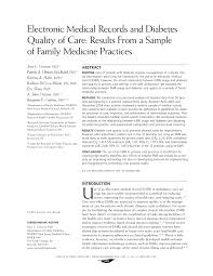 Sample Of Medical Records Pdf Electronic Medical Records And Diabetes Quality Of Care