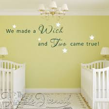 poems for twins nursery room decor the simple stencil on nursery wall art stencils with fancy wall word art stencils photos wall art collections