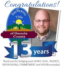 Happy Work Anniversary Dustin Robbins. - Surveyors Title of Osceola County  | Facebook