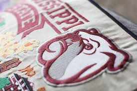 Mississippi State University Embroidery Designs Mississippi State University Embroidered Pillow Collegiate
