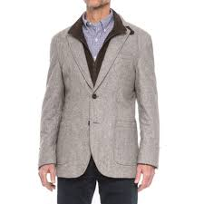 James Campbell Quilted Sport Coat (For Men) - Save 83% & James Campbell Quilted Sport Coat - Removable Bib Placket (For Men) in Grey Adamdwight.com